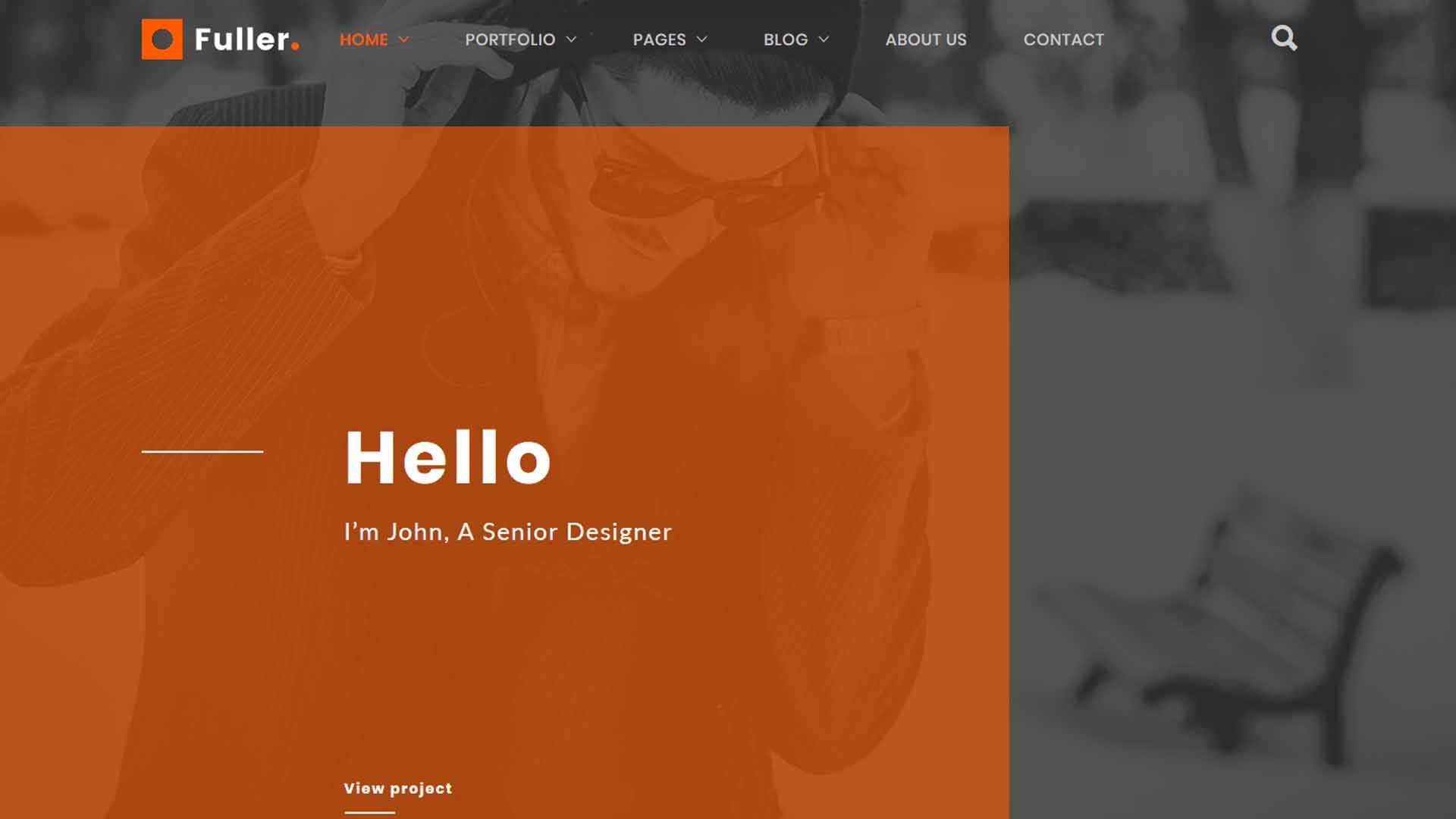 Fuller Creative Portfolio WordPress Theme