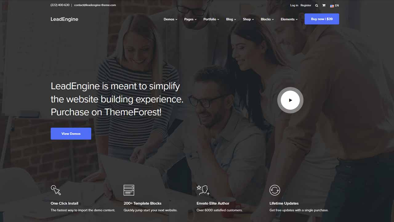 LeadEngine Multi-Purpose WordPress Theme