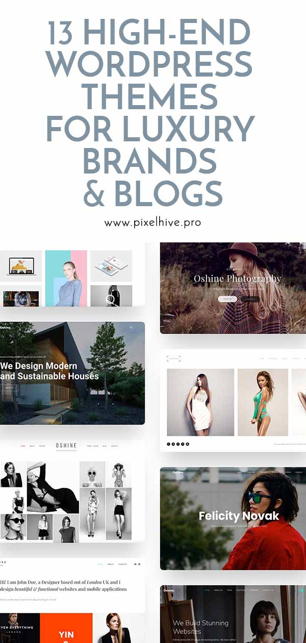 13 High-end WordPress Blog Themes For Luxury Brands Pin Post