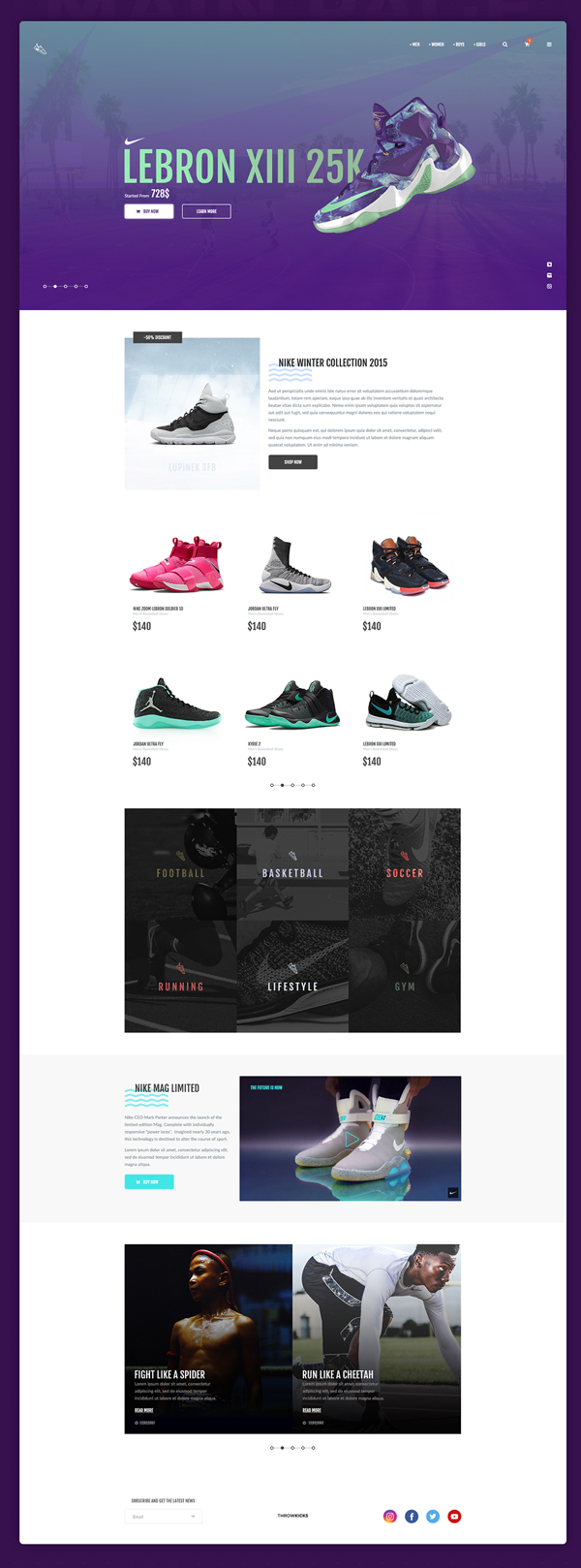 Free ThrowSneaks – Free Simple Shopping Template PSD