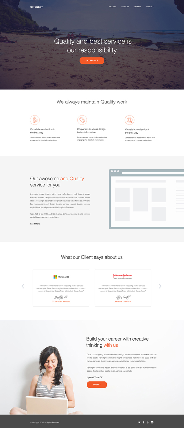 UINugget – Free PSD Template
