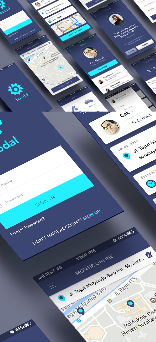 Free PSD Apps Screen UI Templates