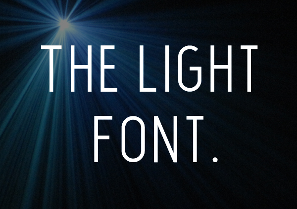 The Light Font free font