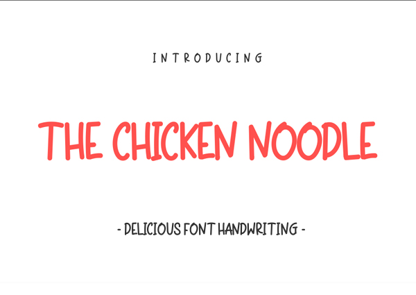 The Chicken Noodle free