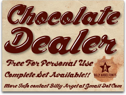 Chocolate Dealer Free Font