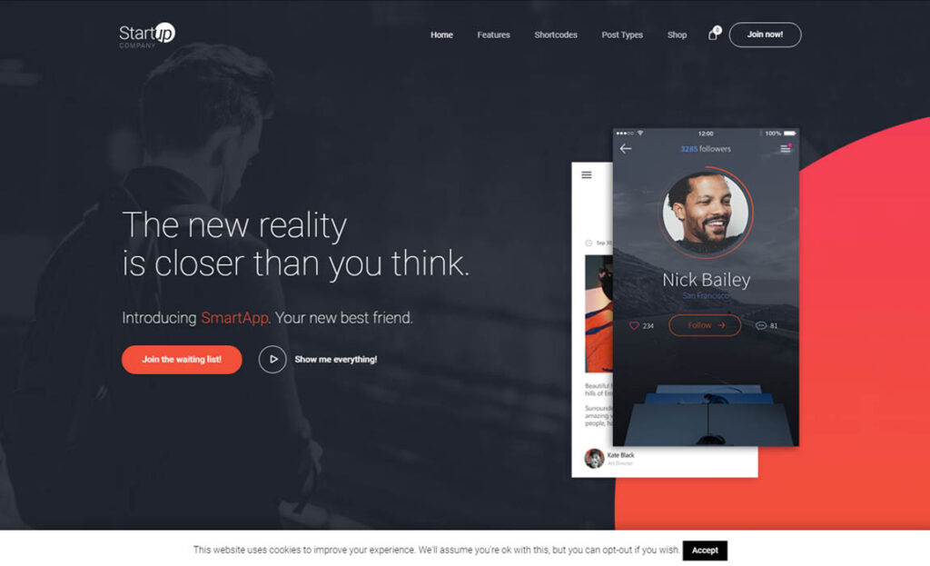 Startup Company WordPress Theme for Business & Technology
