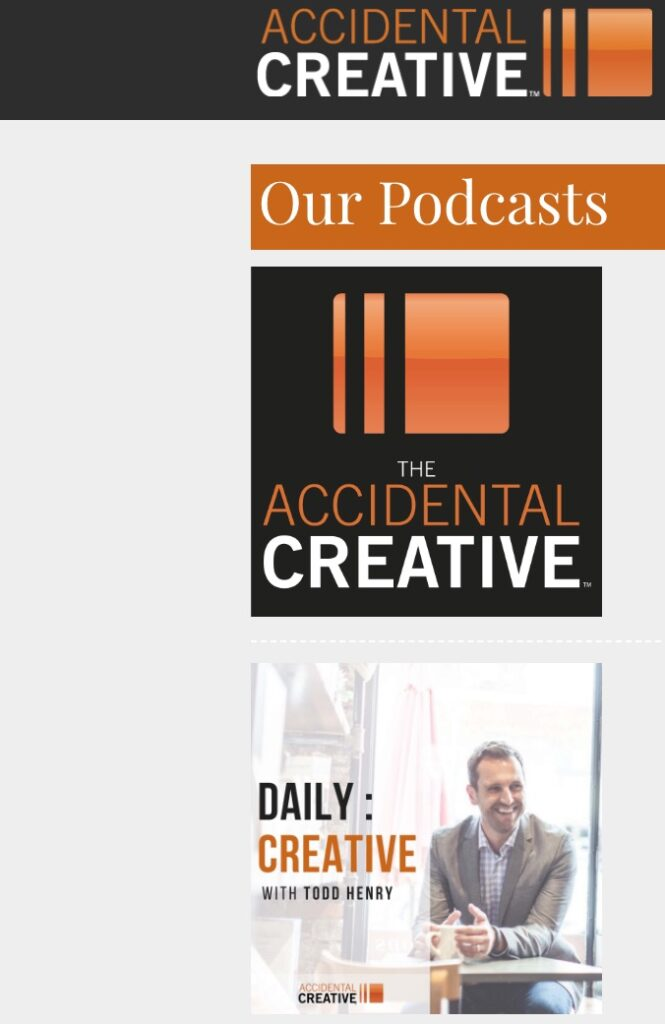 The Accidental Creative and The Daily Creative Graphic Design Podcasts