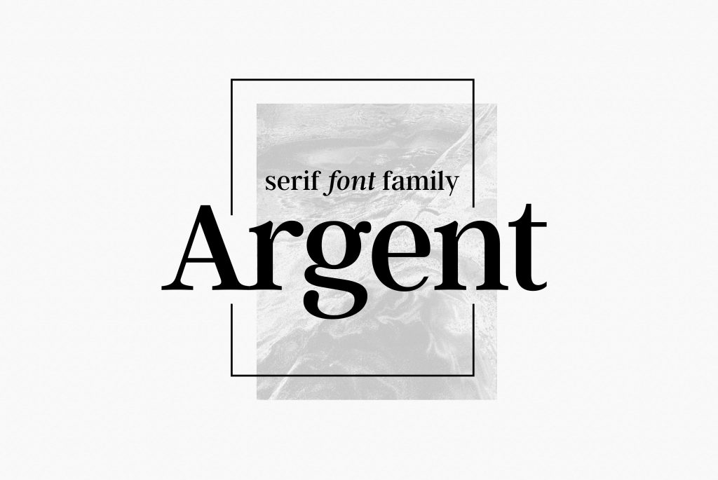 Argent CF Font For Editorial Designs