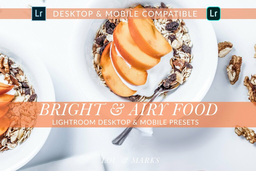 Bright Airy Food Desktop & Mobile For Food Photography