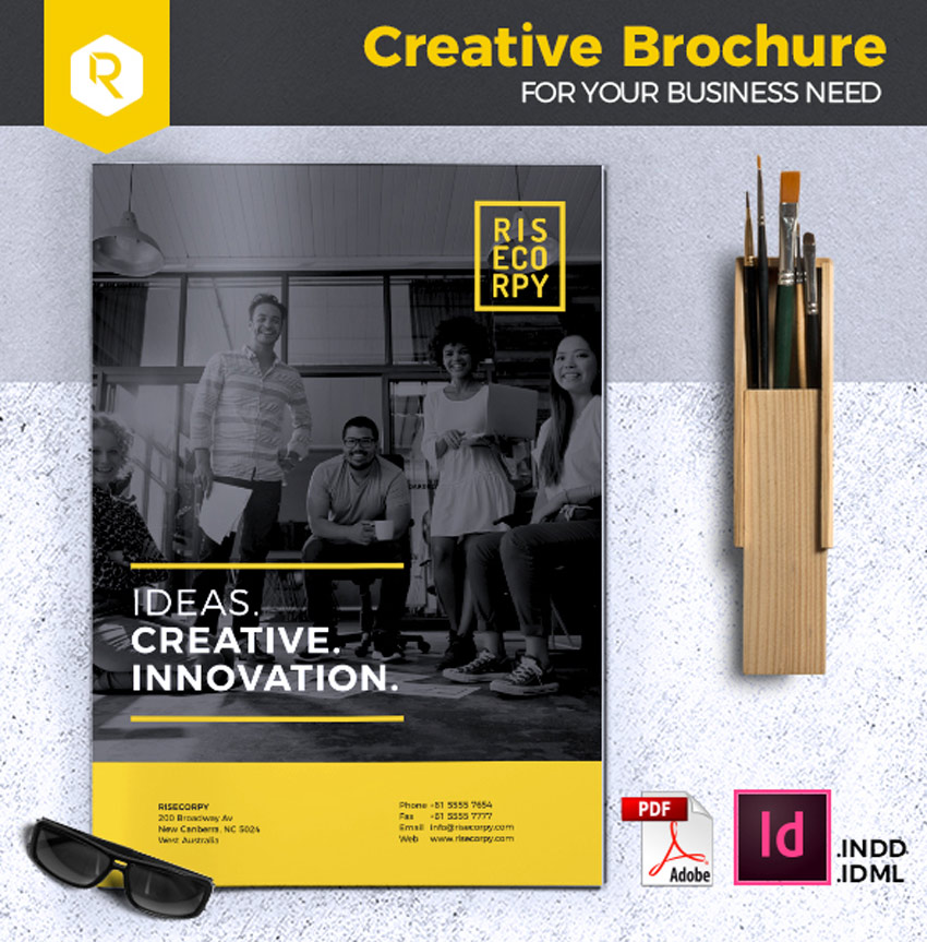 Creative Brochure InDesign Template Vol. 32
