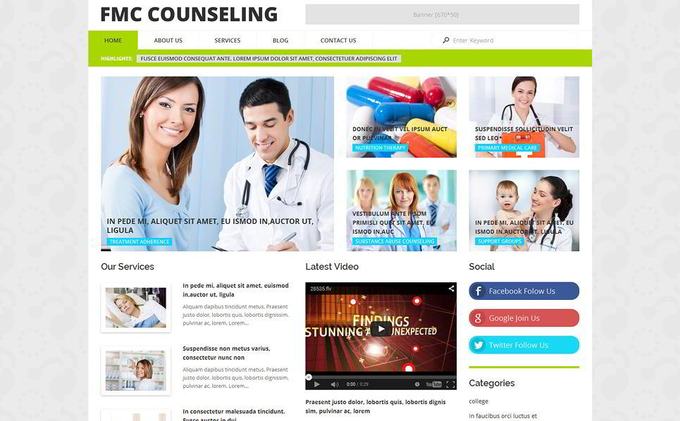 FMC Counseling Medical WordPress Template
