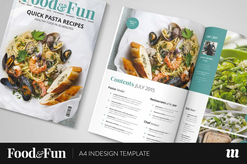 Food&Fun Magazine InDesign Template