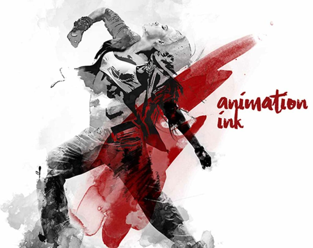 Gif Animated Watercolor and Ink Effect Photoshop Action