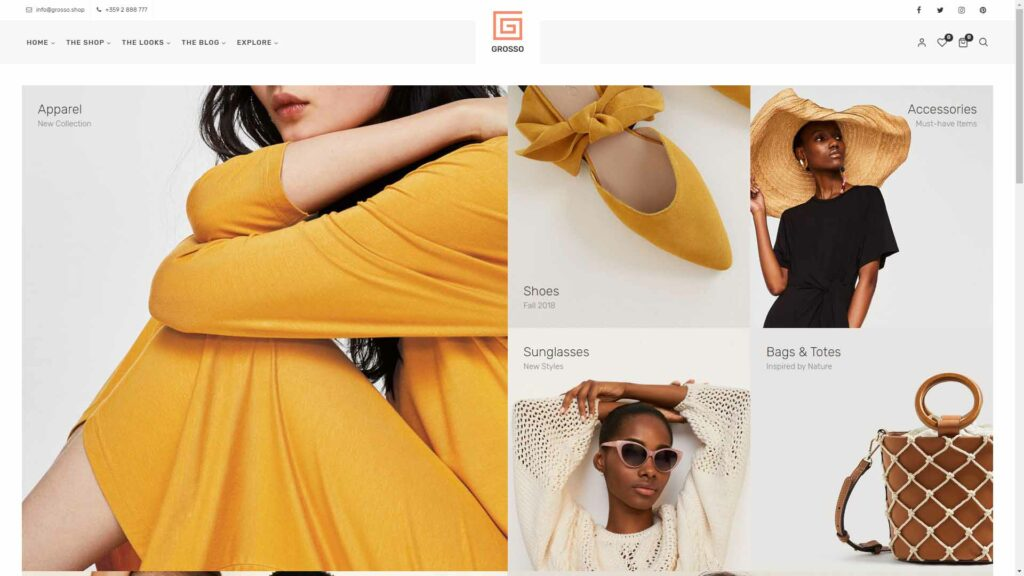 Grosso Fashion Modern WooCommerce theme for the Fashion Industry