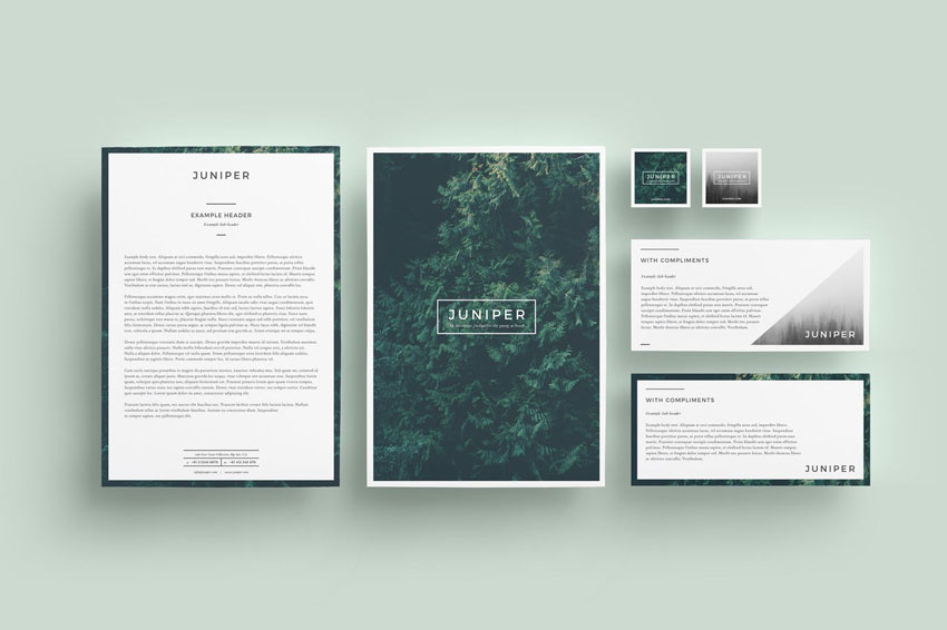 Juniper Stationery Set InDesign Template