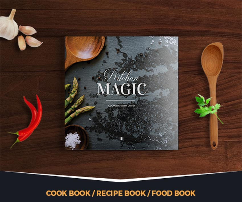 Kitchen Stories Cook Book InDesign Template