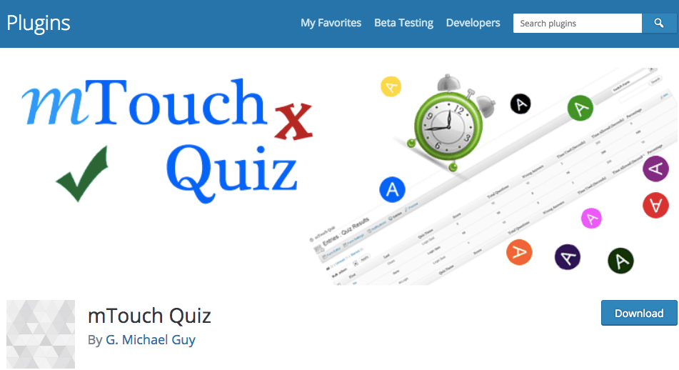 MTouch Quiz Plugin