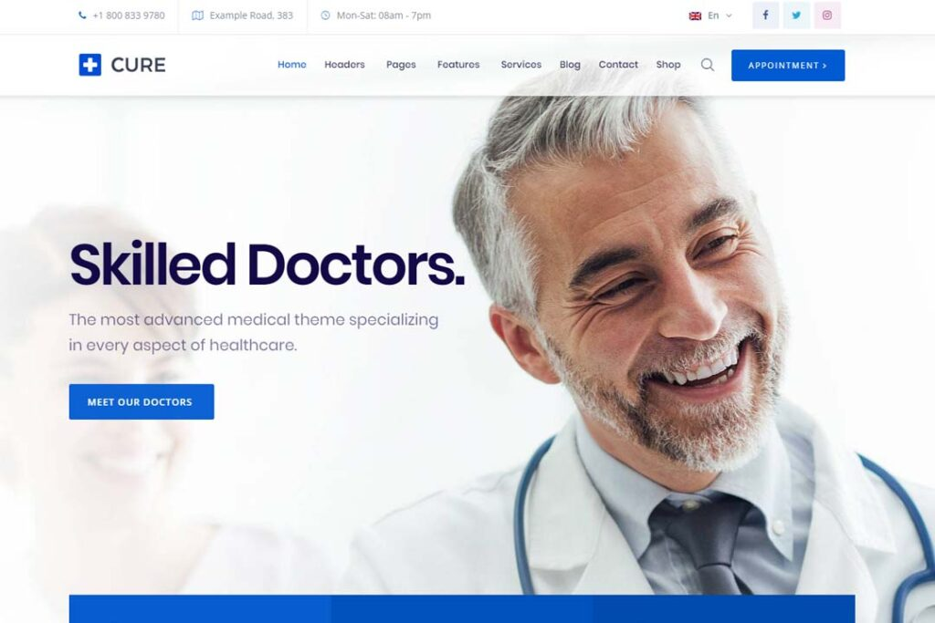 Medical Cure Health and Medical WordPress Theme