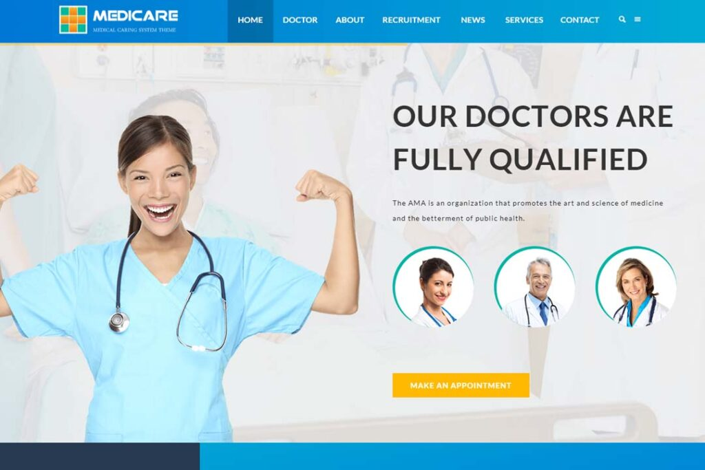 Medicare Medical and Health Responsive WordPress Theme