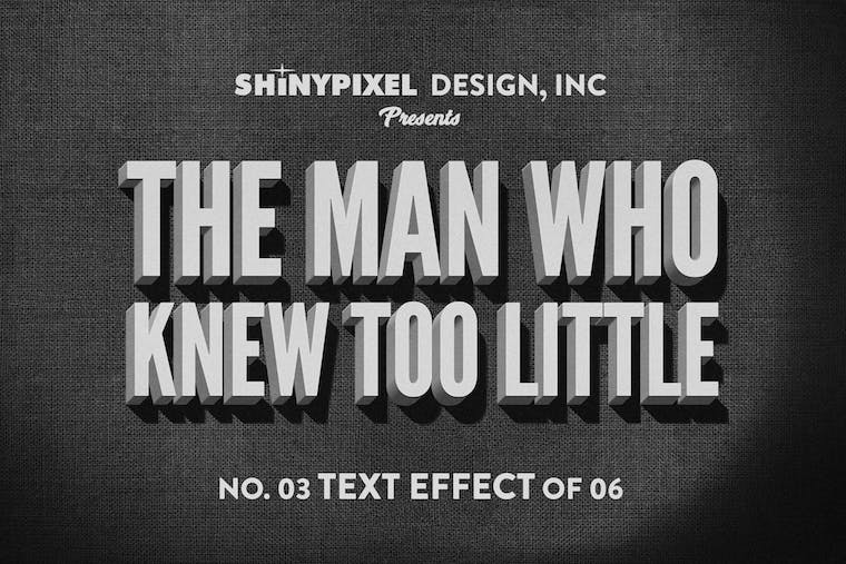 Old Movie Title - Text Effect 3 of 6 by ShinyPixel