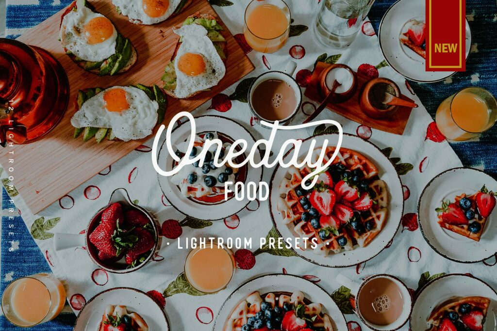 Oneday Food Lightroom presets For Food Photography