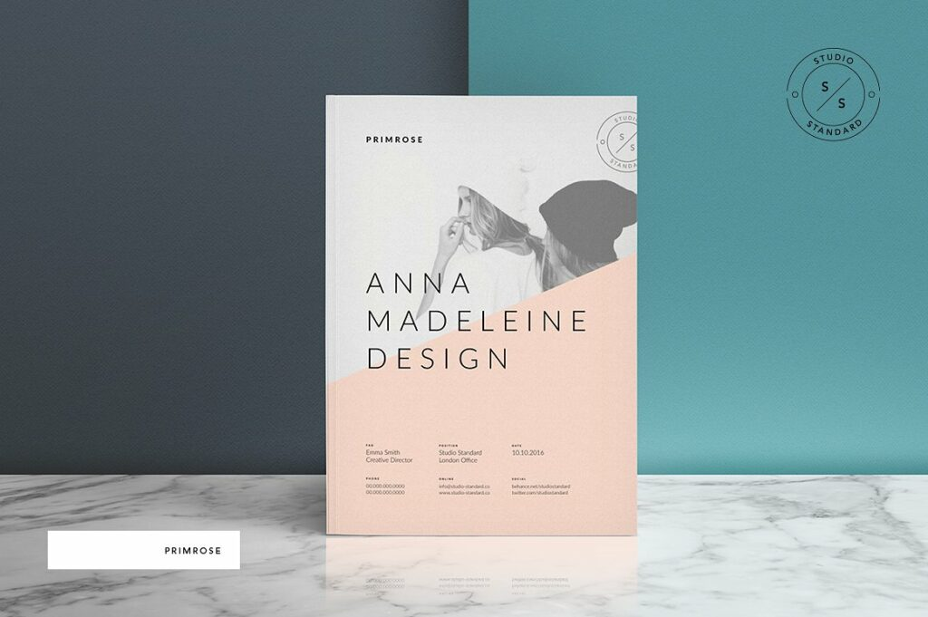 Primrose Portfolio InDesign Template