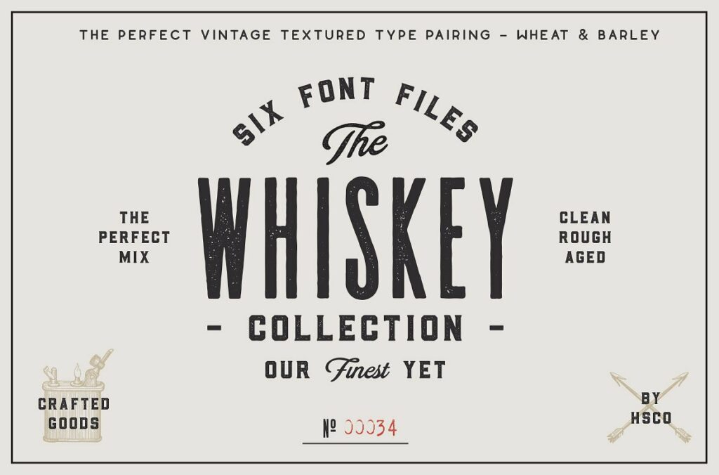 The Whiskey Font Collection For Editorial Designs