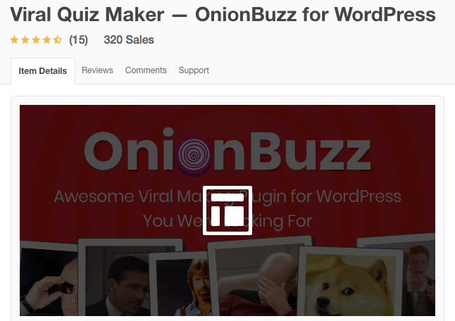 Viral Quiz Maker Onion Buzz For WordPress Plugin
