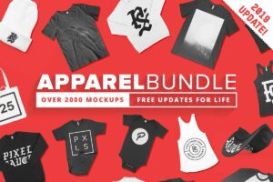 2000+ Apparel Mockups Bundle
