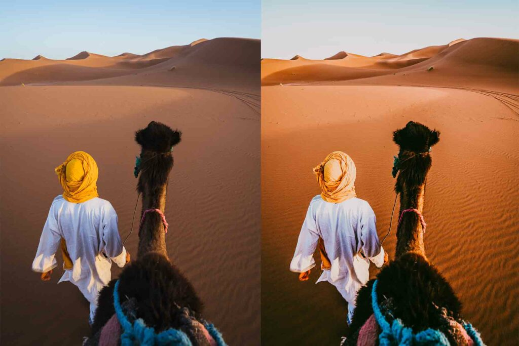 Free Marrakech Warm Lightroom Mobile DNG Preset for instagram
